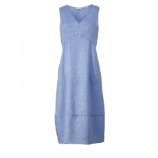 Maxikleid OpenEnd blue denim