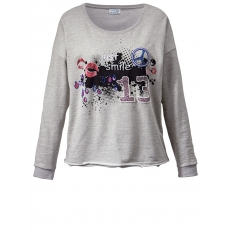 Oversize-Sweatshirt Angel of Style silbergrau-melange