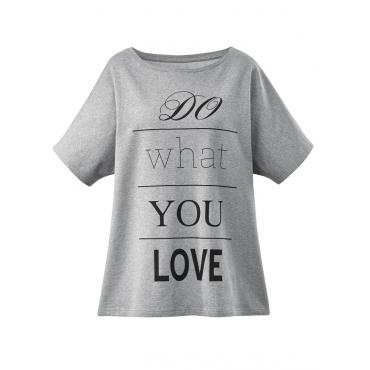 Oversize Sweatshirt Janet & Joyce graumeliert