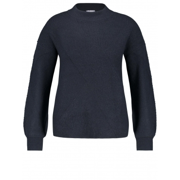 Pullover aus kuscheligem Strick Samoon Navy