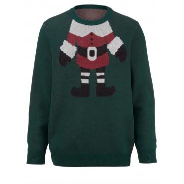Pullover Men Plus dunkelgrün