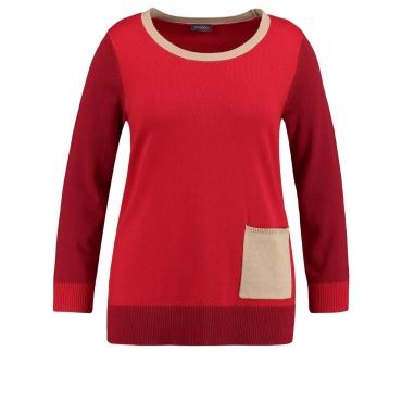 Pullover im Colorblocking-Design Samoon Maple Patch