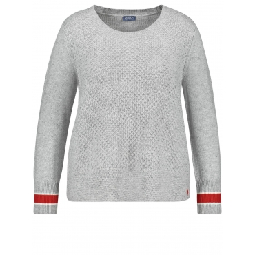 Pullover im sportiven Design Samoon Bright Light Melange