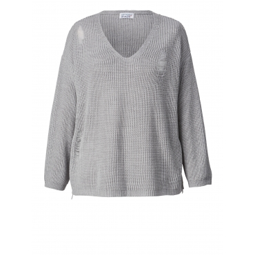 Pullover in Oversize-Form Angel of Style Blau