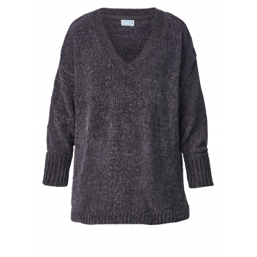 Pullover in Oversize-Form Angel of Style Grau