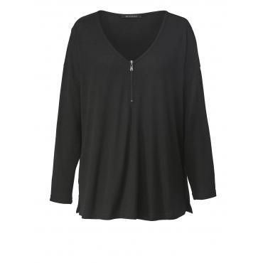 Pullover in Oversize-Form aus Leichtstrick Sara Lindholm Schwarz