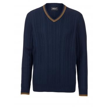 Pullover Men Plus marine/gelb