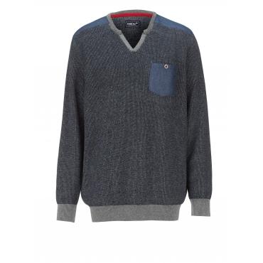 Pullover Men Plus marine/grau