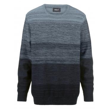 Pullover Men Plus marine/hellblau