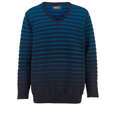 Pullover Men Plus petrol/marine