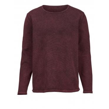 Pullover Men Plus rost/schwarz