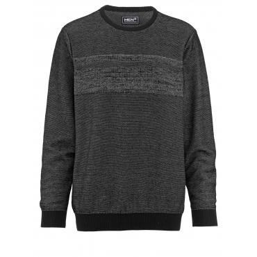 Pullover Men Plus schwarz/grau melie