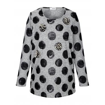 Pullover MIAMODA Schwarz::Grau