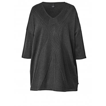 Pullover mit Ajour-Muster Adia Anthrazit