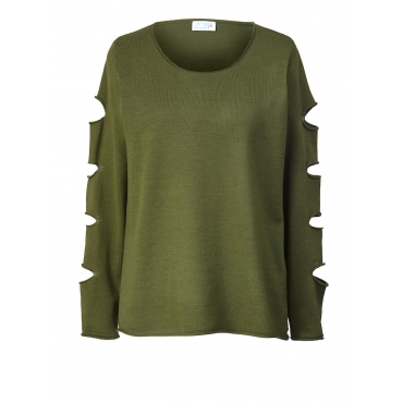 Pullover mit Cut-Outs Angel of Style khaki