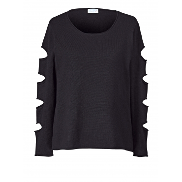 Pullover mit Cut-Outs Angel of Style Schwarz