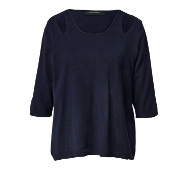 Pullover mit Cut-Outs Sara Lindholm marine