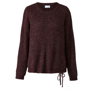 Pullover mit Glitzer Angel of Style bordeaux