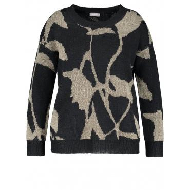 Pullover mit Lurex Samoon Navy gemustert