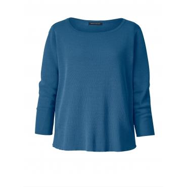 Pullover mit Plissee Sara Lindholm Blau