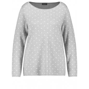 Pullover mit Punkten Samoon Horizon gemustert