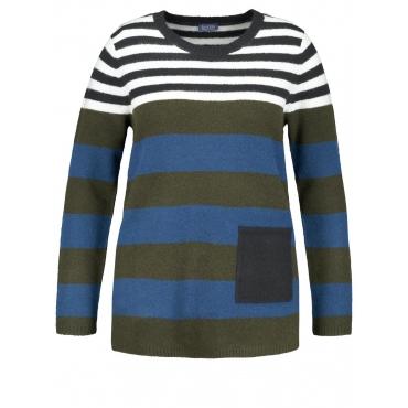 Pullover mit Ringel-Dessin Samoon Sleepy Forest Streifen