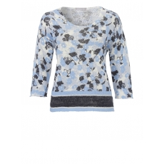 Pullover mit Rosen-Muster Passport SKY BLUE MULITCOLOUR
