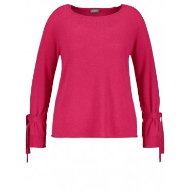 Pullover mit Schleifen und Kaschmir-Touch Samoon Pink Lipstick