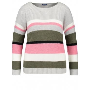 Pullover mit Steifen Samoon Ice Grey Multicolor Ringel