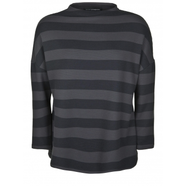 Pullover mit Streifen-Muster Doris Streich taupe