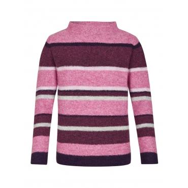 Pullover mit Streifen und Woll-Anteil Rabe BROMBEERE