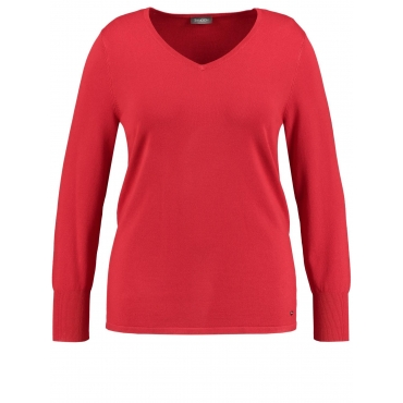 Pullover mit V-Ausschnitt Samoon Maple
