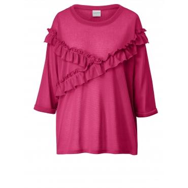 Pullover mit Volants Junarose Pink