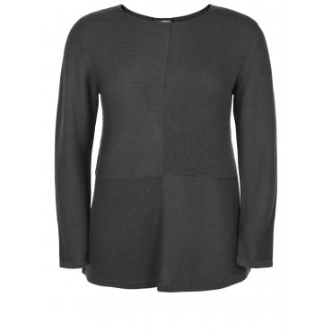 Pullover mit Ziernähten Doris Streich taupe