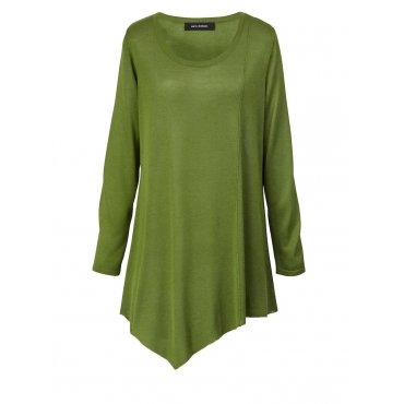 Pullover mit Zipfelsaum Sara Lindholm grün