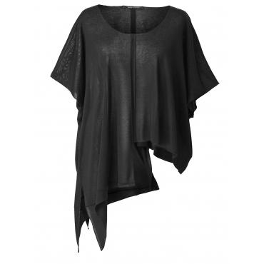 Pullover mit Zipfelsaum Sara Lindholm Schwarz