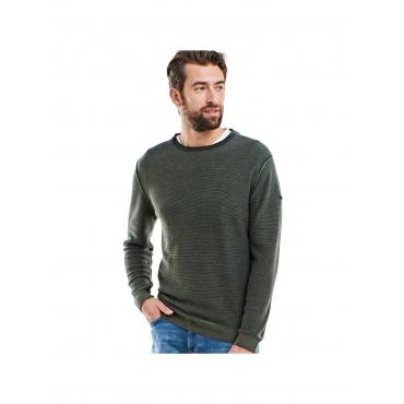 Pullover Rundhals Engbers Khakigrün