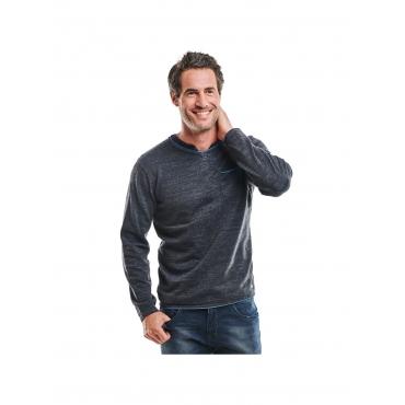 Pullover V-Ausschnitt Engbers Himmelblau