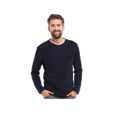 Pullover V-Ausschnitt Engbers Marineblau