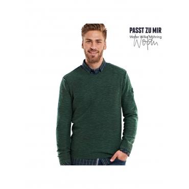 Pullover V-Ausschnitt Engbers Moosgrün