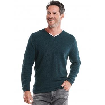 Pullover V-Ausschnitt Engbers Petrolblau