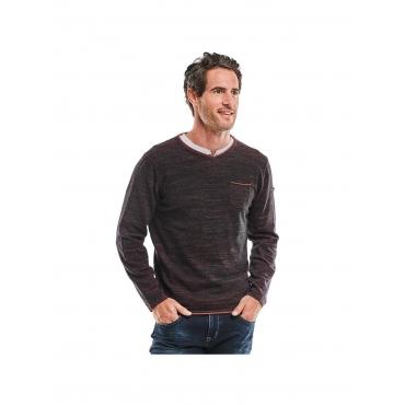 Pullover V-Ausschnitt Engbers Tieforange