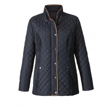 Rautenstepp-Jacke schwarz