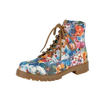 Schnürstiefelette Softwalk multi/floral