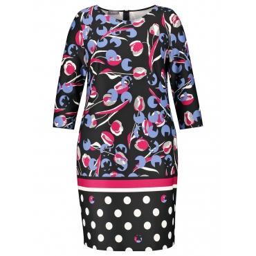 Scuba-Kleid mit Print Samoon Black Druck