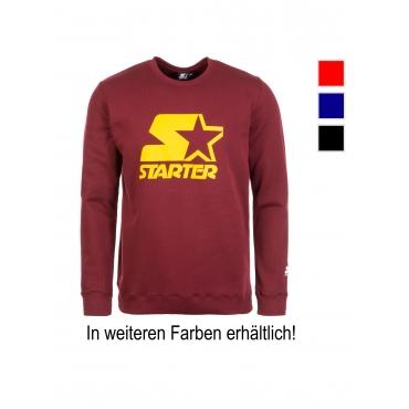 Shaquille Sweatshirt Herren Starter weinrot / gelb