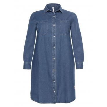 Sheego Jeans-Blusenkleid Sheego blue Denim