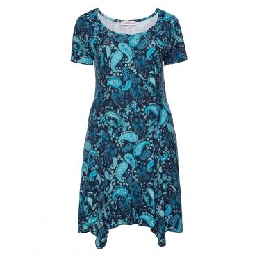 Sheego Kleid Sheego blau bedruckt