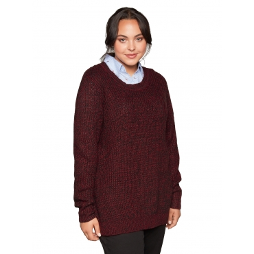 Sheego Pullover Sheego bordeaux meliert
