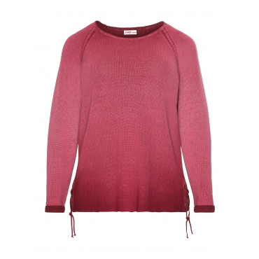 Sheego Pullover Sheego bordeaux